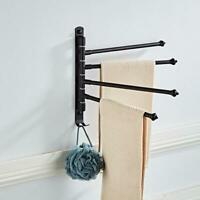 Stainless Steel Towel Rail Rack Rotatable  2/3/4 Arm Holder Hanger Wall-mounted