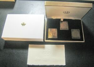 Canada Montreal '76 Olympics Bronze x3 Stamp Medal Set Boxing Fencing Judo w/Box