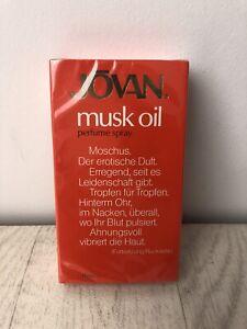 Vintage Jovan Musk Oil 9ml Sealed Perfume Spray