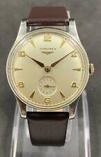 Rare Vintage LONGINES CALATRAVA Manual Wind Watch Cal.12.68Z,Jew.17, 1950'