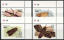 Tuvalu 1991 SG#601-4 Insects MNH Set #A86381