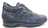 KEYS 1034 CAMOSCIO GRIGIO scarpe donna pelle sneaker casual interactive stringhe