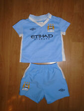 Manchester City shirt & shorts for baby 3-6 months, Umbro, VGC - UK FREEPOST!