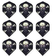 Ruthless Skull & Crossbones Standard Dart Flights -100 Micron- 3 sets(9 flights)