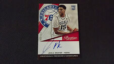 2015-16 JAHLIL OKAFOR PANINI PRESTIGE BASKETBALL ON CARD AUTO RC 270/299