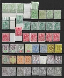 Collection of mixed condition EdVII MINT stamps.