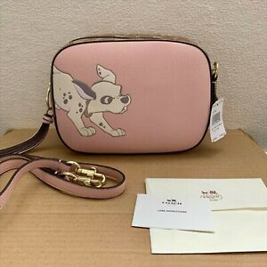 Coach x Disney Camera bag Dalmatian Shoulder bag Pink color W:8.4 x 6.5 x 3in