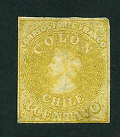 CHILE Yvert # 7- Sofich # 10 Mint No Gum. FVF