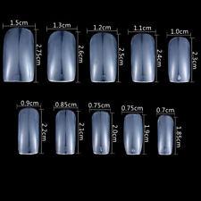 500pcs Squoval False Nail Tips Full Coverage Fake Nails With Glue Nail File