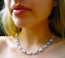 Exquisite Kate Spade Le Soir Crystal Bow Collar Statement Bridal Necklace Silver