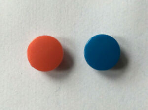 Tap  Indices Tops Buttons Red Blue 9.3mm 11mm Total Pair                      L5