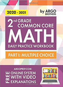 2020-2021 2nd Grade Common Core Math Daily Practice Workbook By ARGO Bros NEW