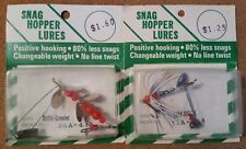 VINTAGE OHIO MADE SNAG HOPPER LURES, DRIFTA-CRAWLER AND SHY-ROCK 2 SPINNERS NOC!