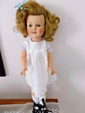 1950s Ideal Shirley Temple Doll Stamped ST-17-1 Vinyl - Sleep Eyes - Teeth