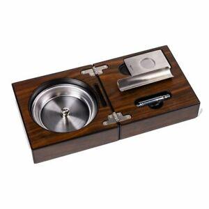 Wood Folding Cigar Ashtray