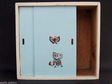 Russian USSR Vintage Miniature Wooden Wood Cabinet Cupboard Dollhouse Furniture