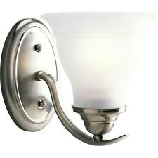 Progress Lighting Trinity Collection 1-Light Brushed Nickel Bath Light NIB