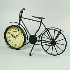 32 CM Retro Vintage Black Metal Alloy Bicycle Quartz Analogue Clock Antique Gift