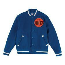 Hombres Mitchell & Ness NBA New York Knicks Universitaria Bomber Chaqueta