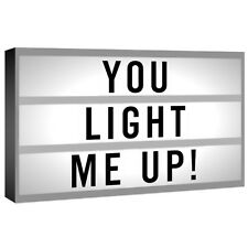 50CM LARGE LIGHT UP LETTER BOX CINEMATIC LED SIGN WEDDING PARTY CINEMA PLAQUE