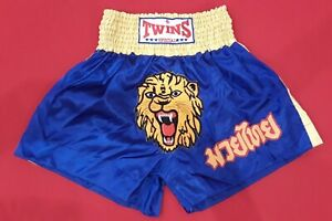"""NEW 26-30"""" TWINS SPECIAL Gold Tiger FIGHT GEAR MUAY THAI Boxing SHORTS Trunks"""