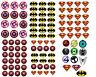 superman spiderman Batman superhero logo bat pink matt finish sticker party bag