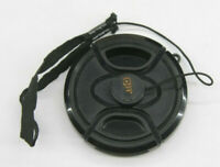 58mm  - Front Snap On Lens Cap - Unbranded with Leash - USED Z948