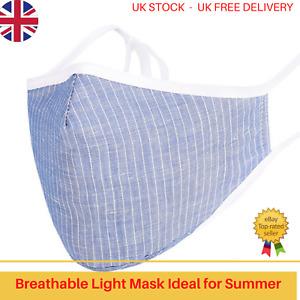 Reusable Face Mask, Washable, 3D Surrounding Design, Maximum Comfort - Blue Jean