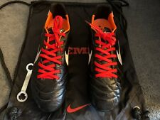 Nike Tiempo Legend IV SG, UK 8, Black / White / Orange, VGC