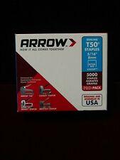 "Arrow 505Ip T50 Staples, 5/16"" 8mm, 5000 staples"