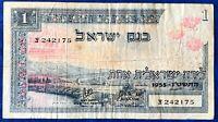 Israel 1 Lira Pound Banknote 1955 VF/XF