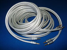 Tiptop Grade Purity Silver Speaker Cable 2.5m/pr or Any Size. Don't Pay $80/m.