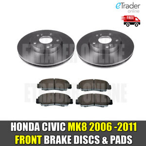 for HONDA CIVIC MK8 1.4 1.8 2.2 CDTi 06-11 FRONT BRAKE DISCS & AND PADS NEW