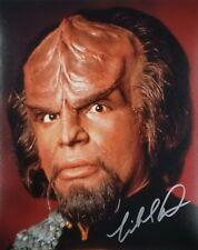 Star Trek The Next Generation MICHAEL DORN Signed WORF 8x10 Photo AUTOGRAPHED