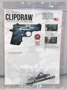 The Original Clipdraw Concealed Carry Clip For Semi-Auto Pistols Silver SA-S