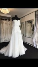 Christina Wo Ivory Wedding Dress Size-12 Or A Small 14 Perfect Condition
