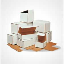 12x6x4 White Corrugated Mailing Shipping Boxes Packing Cardboard Cartons