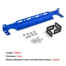 Universal Aluminum Oil Cooler Mounting Bracket for British Type Oil Cooler Blue