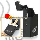 Portasigarette Porta Pacchetto Sigarette Tabacco da Viaggio Alluminio Nero ap7e