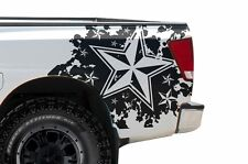 Vinyl Rear Decal Nautical Star Wrap Kit for Nissan Titan Truck 04-13 Matte Black