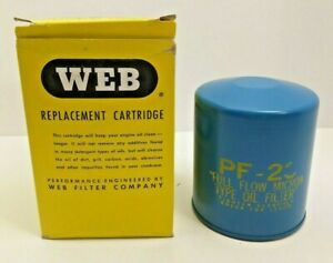 Vintage WEB Replacement Oil Cartridge PF-23 USA Fits 1967-74 Buick Pont Olds Cad