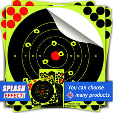 Shooting Paper Target 8'' Splatter and Adhesive Stick for 50packs