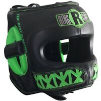 Ringside Boxing Youth Face Saver MMA Sparring Headgear - Black / Lime Green