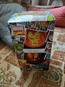 Marvel Comics Mug And Sock Set-Iron Man, Novelty Gift