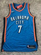 Men's Large (Size 48) Nike OKC Thunder Carmelo Anthony NBA Home Swingman Jersey