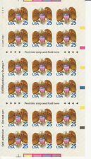 Eagle And Shield Stamp Booklet - Usa #2431a 25 Cent 1989
