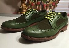 333-Cole Haan  Oxford Wingtip Green Leather Shoes Men Sz 10 M