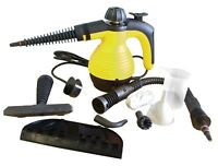 Steam Cleaner Hand Held Steamer Glass Tiles Universal Cleaning with accessories