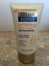 Gold Bond Ultimate Softening Foot Cream 4 oz With Shea Butter Moisturizer Skin