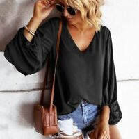 Elegant Top Pullover Loose Long Sleeve Blouse Casual Jumper Fashion New O Neck